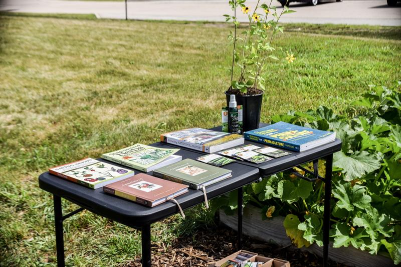 Garden therapy offered seed packets and materials.