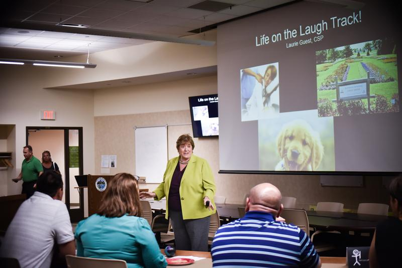 Laurie Guest spoke on how laughter is the best medicine for any environment.