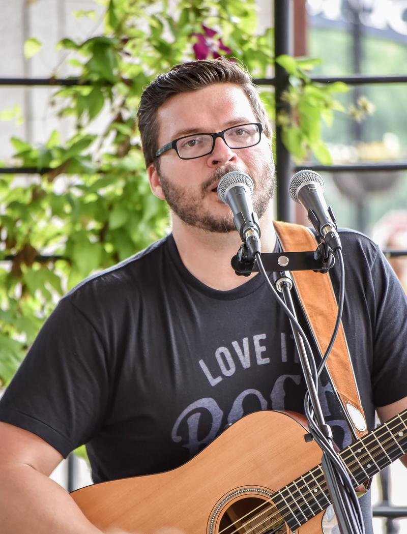 Andrew Robinson performed live music on the patio.