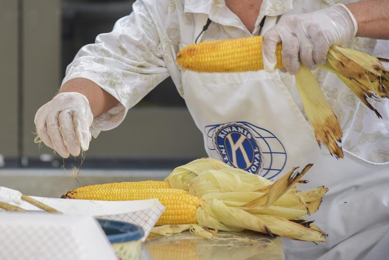Fresh corn was boiled, buttered and served on nearly every corner of the annual fest