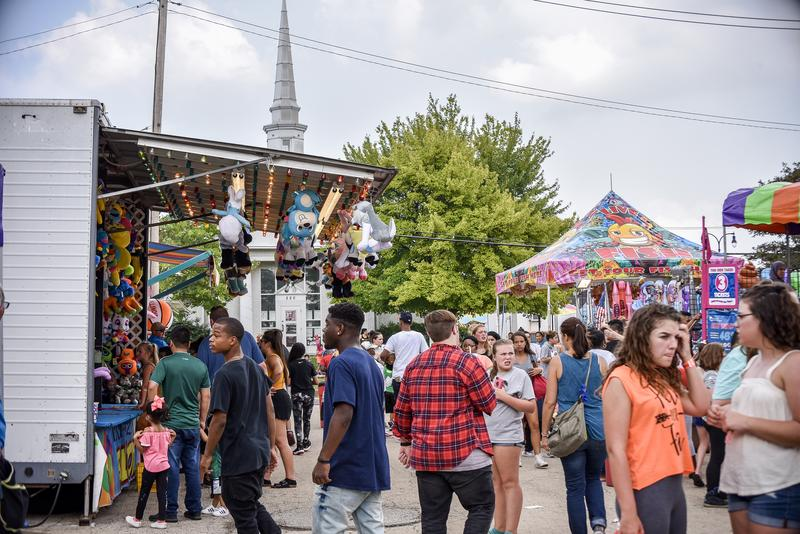 Rides and games filled the streets and parking lots in front of the DeKalb Public Library.