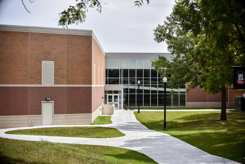 The new NIU Stevens building is located next to Watson Hall and DuSable Hall.
