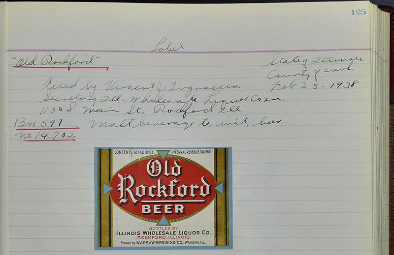 Trademark label for Old Rockford Beer