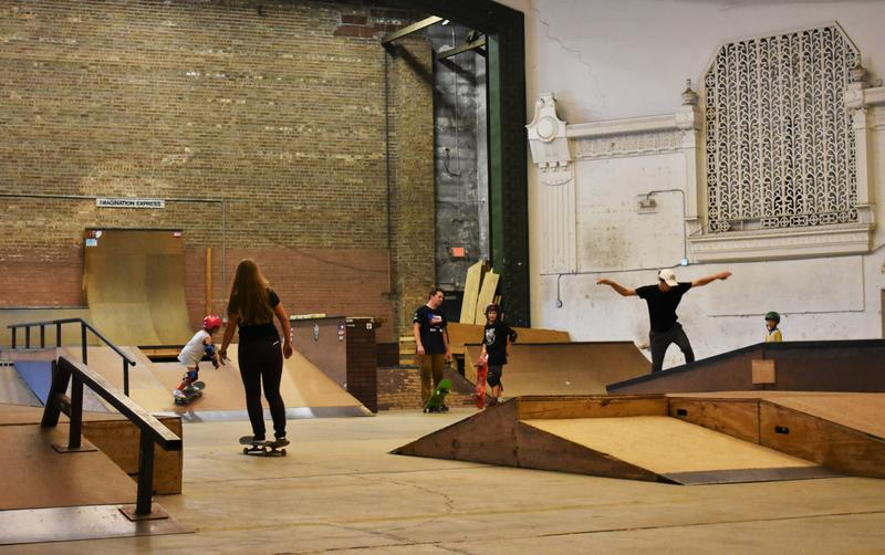 Fargo's skatepark used to be an old theatre until Ries and friends renovated it.