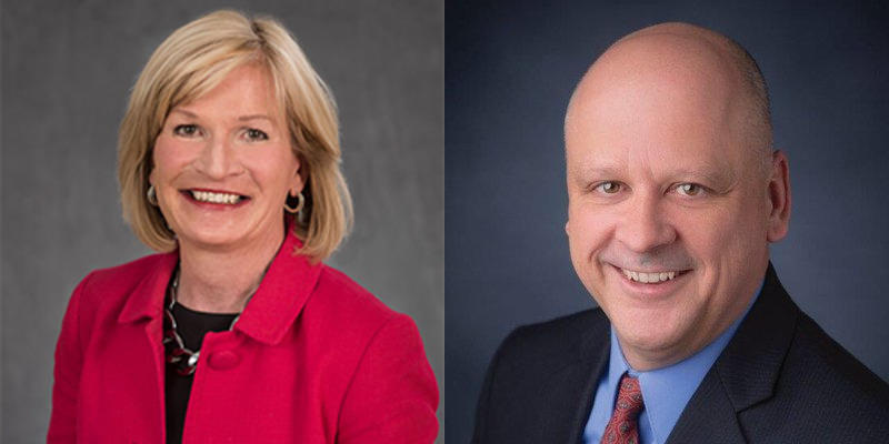 Republican candidates Darlene Senger and Jim Dodge.