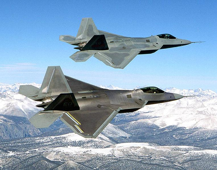 F-22 Raptors (courtesy of Wikipedia)