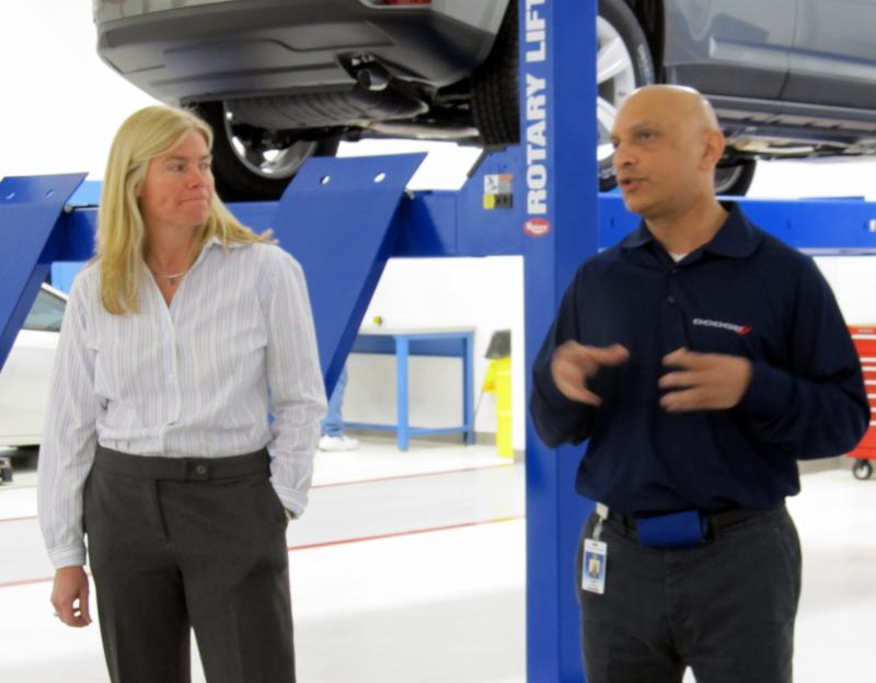 Chrysler brass Meg Novacek and Amin Alidina visit Belvidere