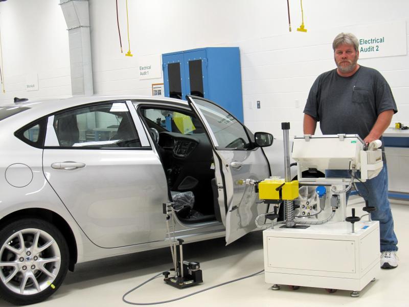 The door-reliability testing machine