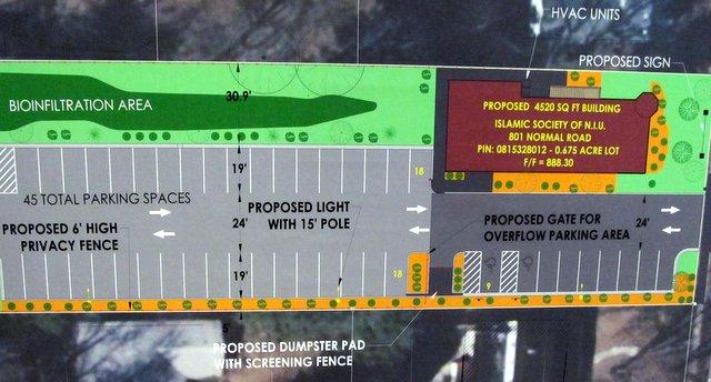 Layout of proposed mosque in DeKalb.