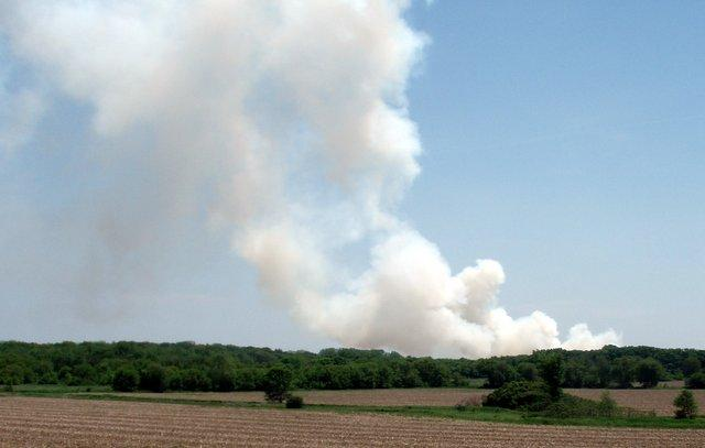 Smoke can be seen from all over the Rockford area from the massive mulch fire in northern Boone County.