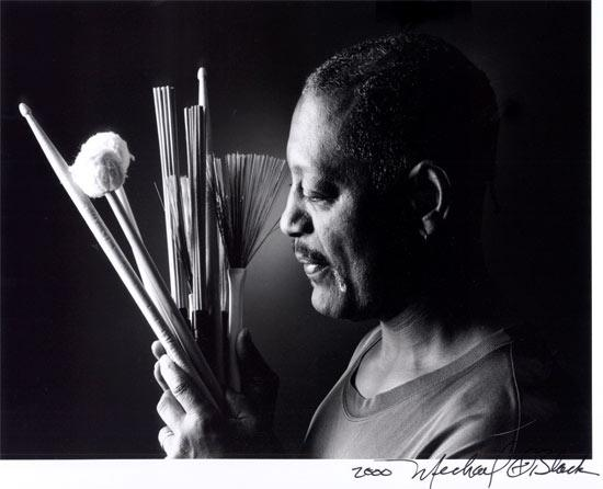 Composer and percussionist Victor Lewis