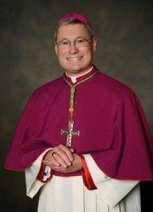 Newly-installed Bishop David Malloy of the Rockford Diocese.