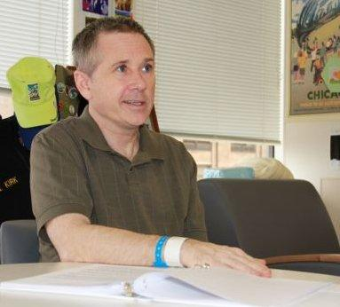 The first public photo of Senator Mark Kirk to be released since his stroke in January.