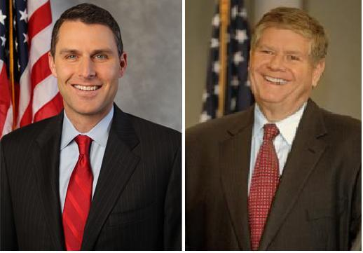 Republican U.S. Senate Candidates Doug Truax, left, and Jim Oberweis