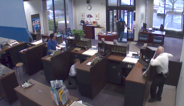 Bank Security Guard Kills Armed Robber In Dramatic Gunfight