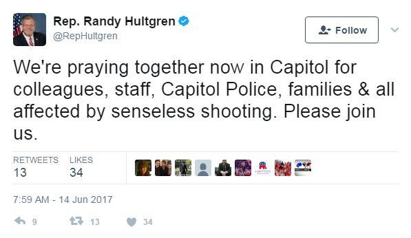 'His politics were his religion,' congressman says of Hodgkinson