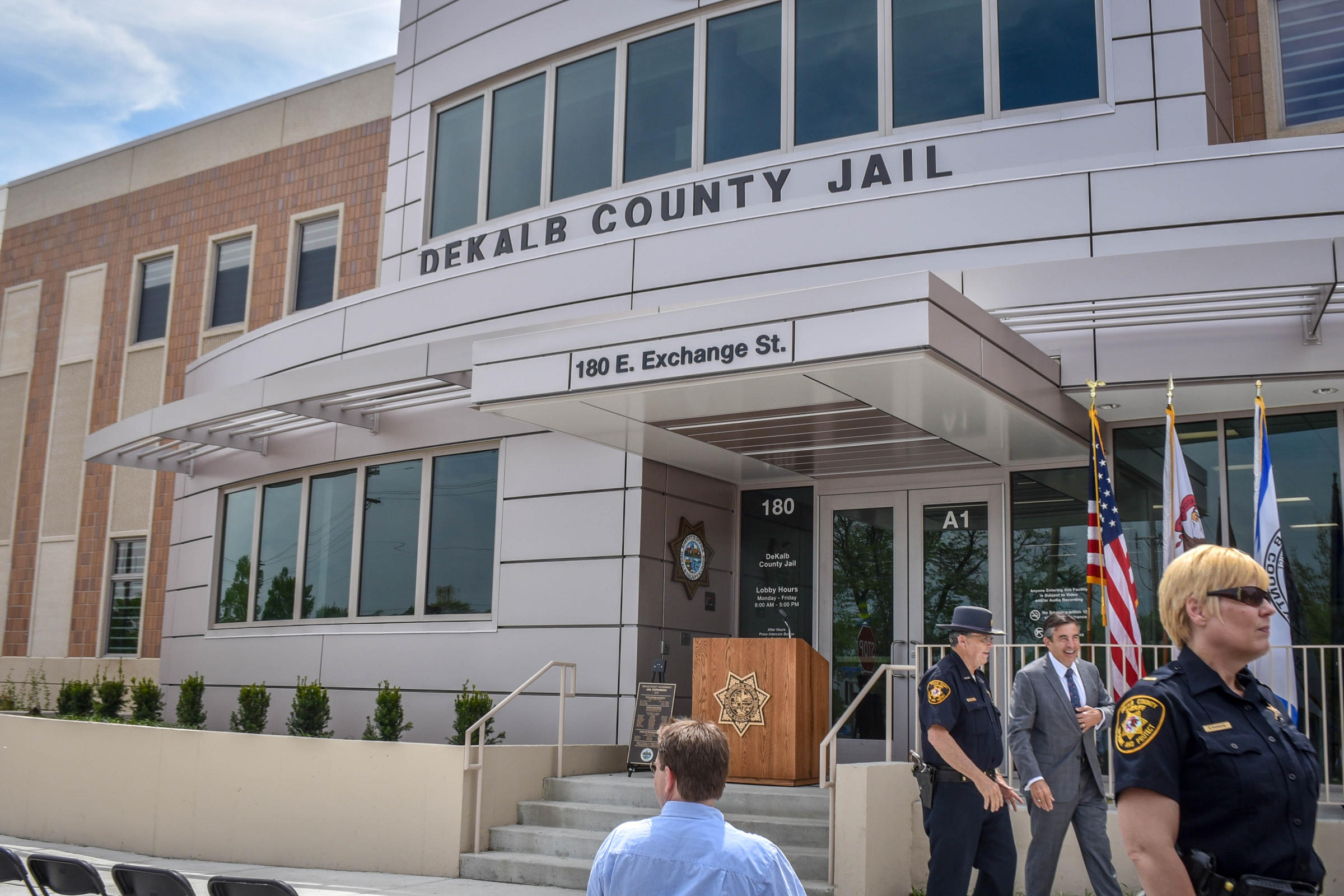 Front of the new DeKalb County Jail.