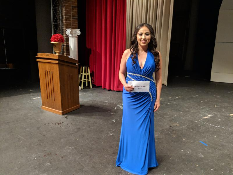 Janeth Vazquez at the 2018 Cinco de Mayo Pageant in Liberal, Kansas.