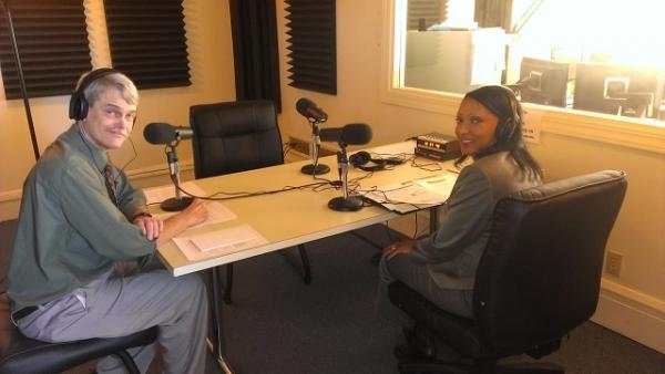 John Gibson in the studio with Diane Clements Friday.