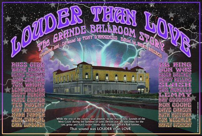 "The poster for the documentary ""Louder Than Love,"" the story of Detroit's Grande Ballroom."