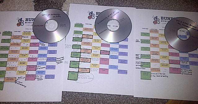 Norine Veeneman of Cincinnati put some time and effort into planning her Bunbury weekend, making a mix CD for each day of the weekend festival.