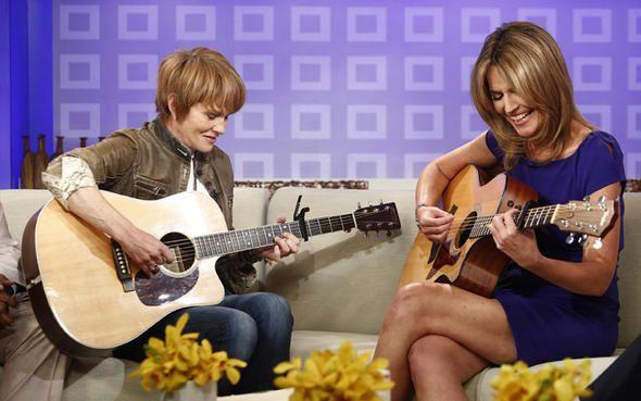 "Shawn Colvin plays and sings with ""Today Show"" co-host Savannah Guthrie. Provided photo"