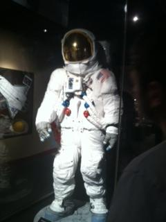 Replica of Neil Armstrong's spacesuit