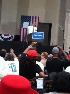 President Obama at Cincinnati's Eden Park