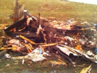 March 2nd tornado rubble