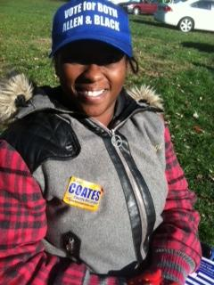 Poll worker Denisha Campbell