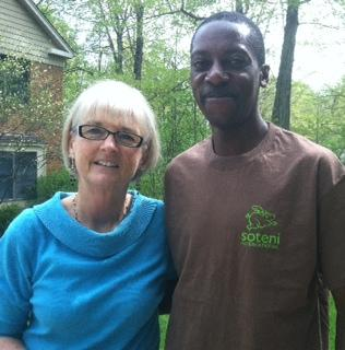 Executive Director of Soteni, Randie Marsh and Kenyan runner Paul Odipo