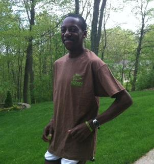 Paul Odipo in training for Flying Pig