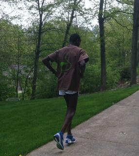 Paul Odipo's morning run