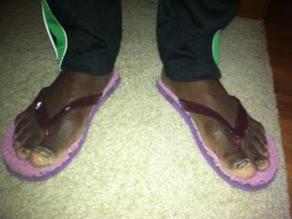 Paul Odipo's bare feet. He's been known to run many miles barefoot