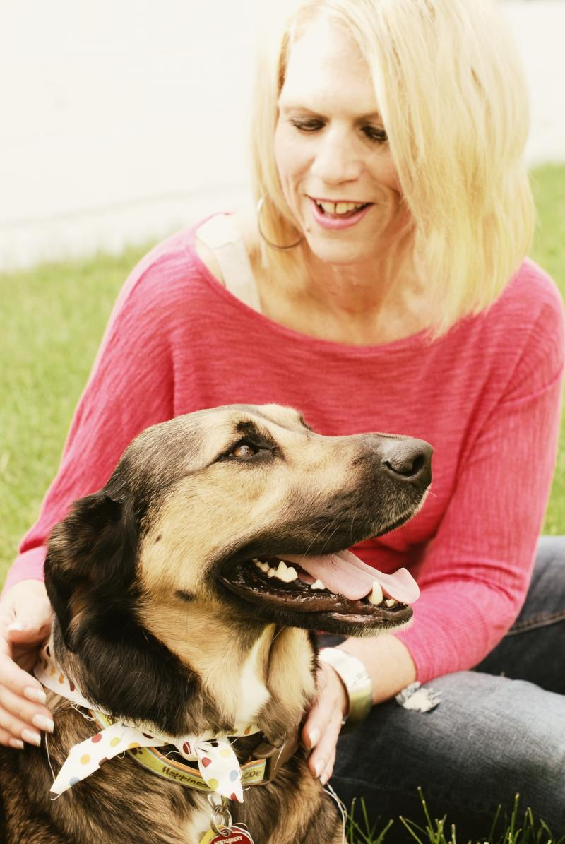 Tanya North and a happy companion.