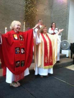 Bishop Bridget Mary Meehan and Dr Debra Meyers