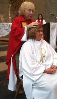 Bishop Bridget Mary Meehan ordains Dr. Debra Meyers