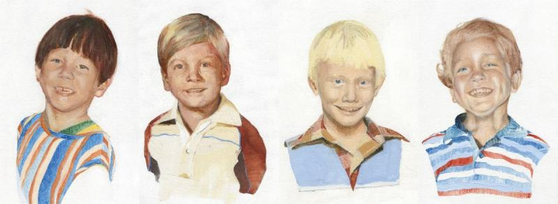 Josh Eagle and the Harvest City Band Members as Kids