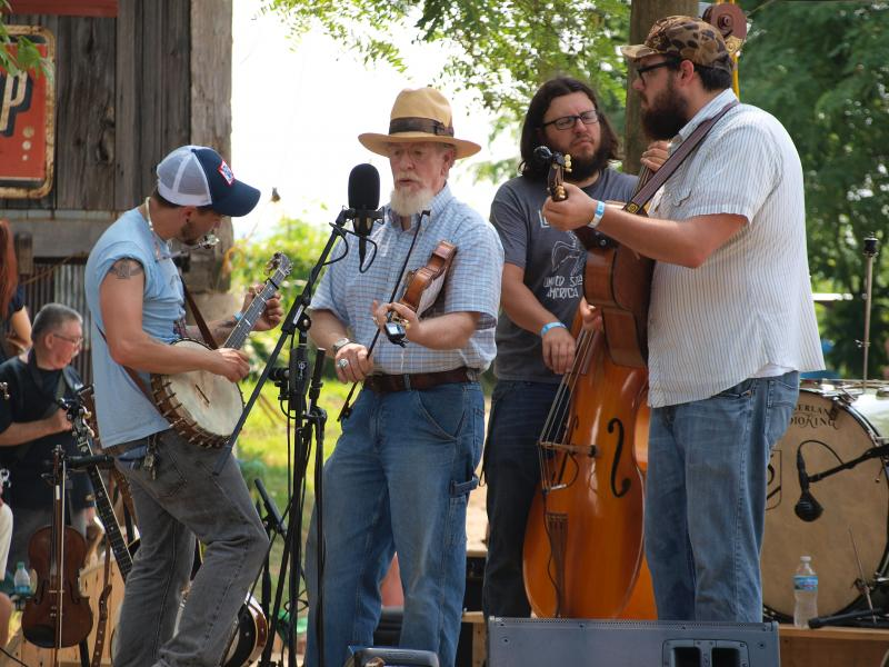 The Tillers were joined by Uncle Mike Carr at the 2012 Browngrass Festival