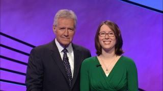 Alex Trebek and Liz Kelly