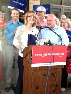 Former U.S. Rep. Gabby Giffords and hubby Mark Kelly