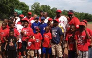 Avondale's ball teams with Baseball great Joe Morgan