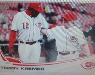 Teddy Kremer and Reds former manager Dusty Baker