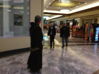 Father Jeffrey Scheeler at Northgate Mall