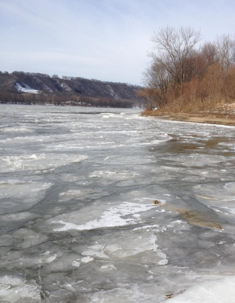 Frozen parts of Ohio River