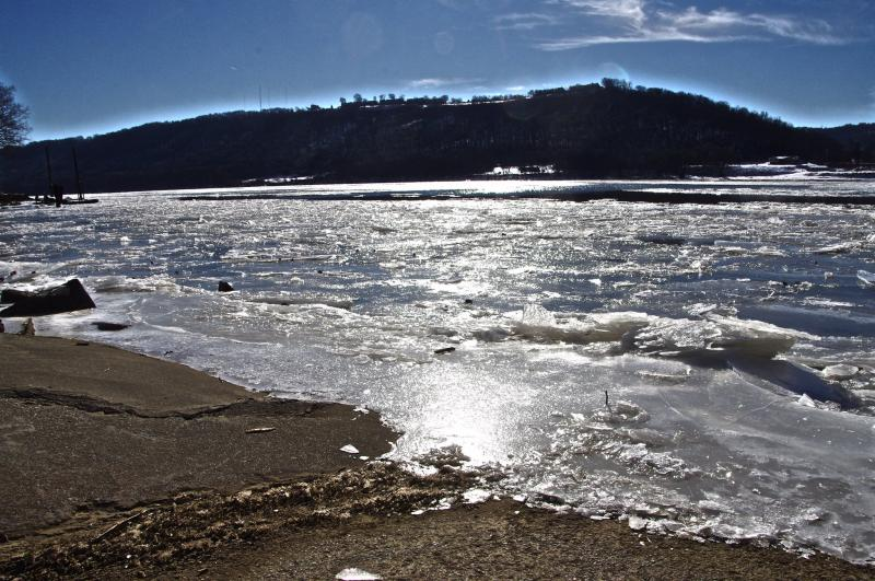 Ice on the Ohio River