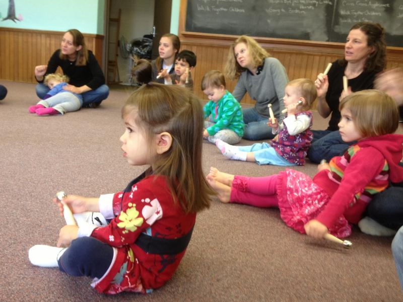 Toddlers enjoy Musikgarten class at Clifton Cultural Arts Center