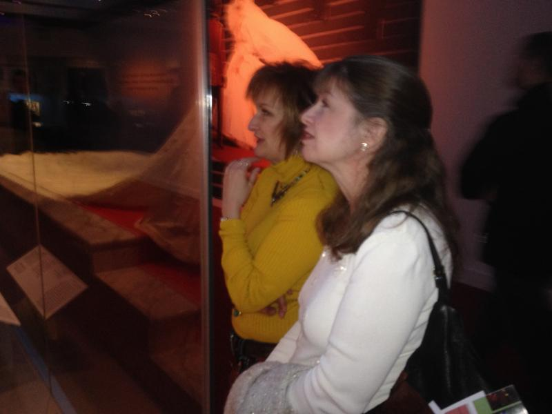 Jennie Spoor and Lori Fitswater drove from West Virginia to see the exhibit