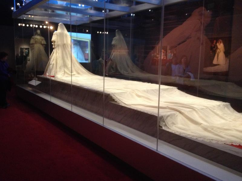 Princess Diana's wedding gown was 25 feet long, longest in royal history