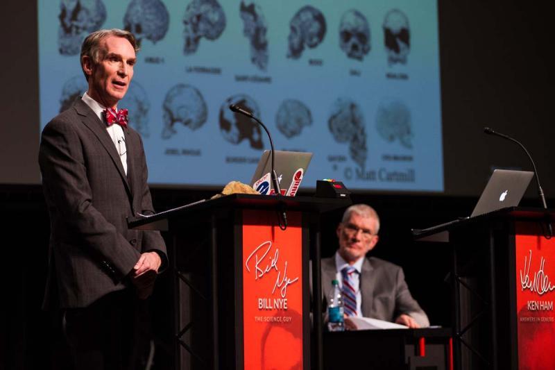 Bill Nye and Ken Ham during debate at Creation Museum